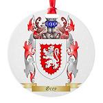 Grey Round Ornament