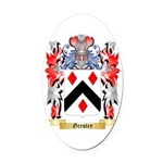 Grestey Oval Car Magnet