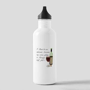 Wine Glass Half Full O Stainless Water Bottle 1.0L