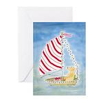 Sailing Yellow Lab Christmas Greeting Cards