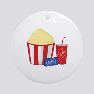 Movie Snacks Ornament (Round)