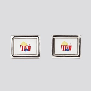 Movie Snacks Rectangular Cufflinks