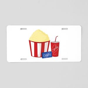 Movie Snacks Aluminum License Plate