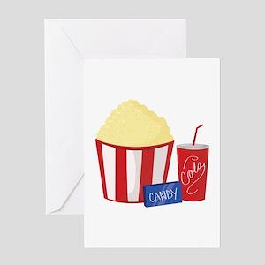 Movie Snacks Greeting Cards