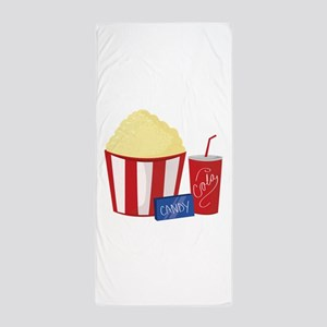 Movie Snacks Beach Towel