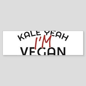 Kale Yeah I'm Vegan Bumper Sticker
