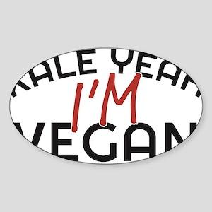 Kale Yeah I'm Vegan Sticker