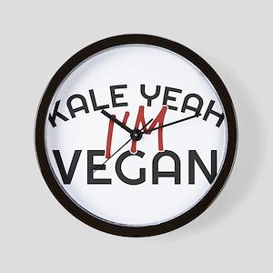 Kale Yeah I'm Vegan Wall Clock