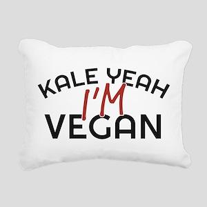 Kale Yeah I'm Vegan Rectangular Canvas Pillow
