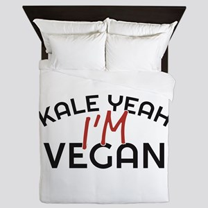 Kale Yeah I'm Vegan Queen Duvet