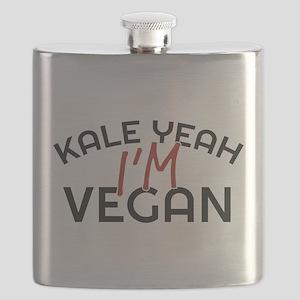 Kale Yeah I'm Vegan Flask