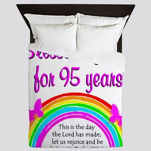 GOD LOVING 95TH Queen Duvet