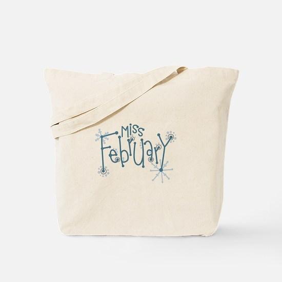 Miss February Tote Bag