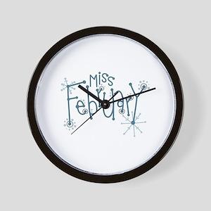 Miss February Wall Clock