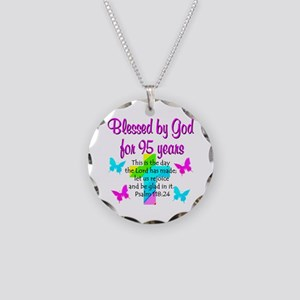 JESUS LOVING 95TH Necklace Circle Charm