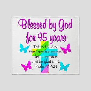 JESUS LOVING 95TH Throw Blanket