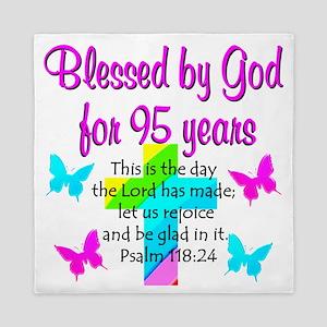 JESUS LOVING 95TH Queen Duvet