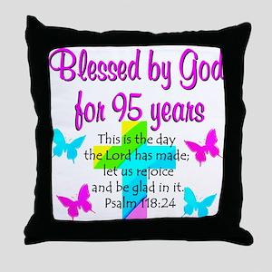 JESUS LOVING 95TH Throw Pillow