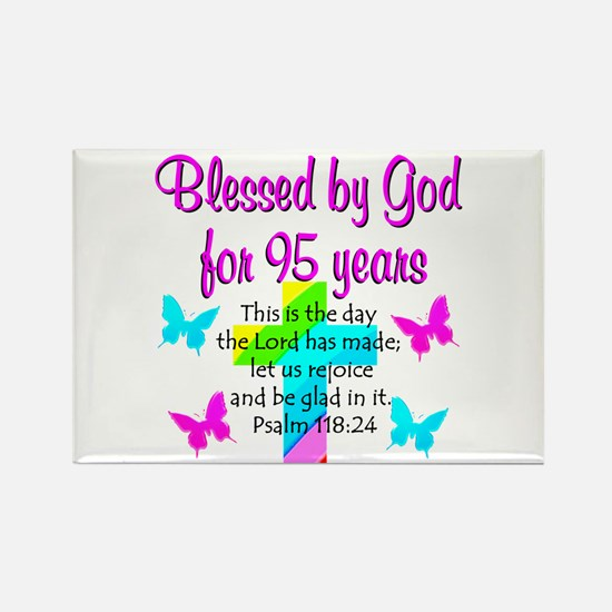 JESUS LOVING 95TH Rectangle Magnet