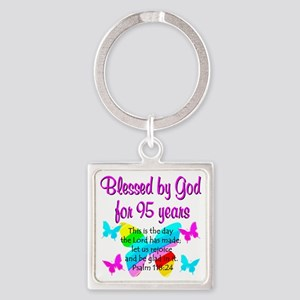 RELIGIOUS 95TH Square Keychain