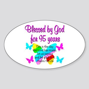 RELIGIOUS 95TH Sticker (Oval)