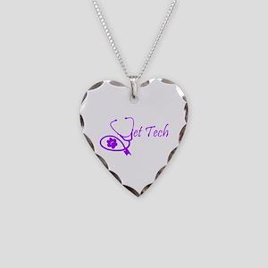 vet tech stethoscope design Necklace Heart Charm