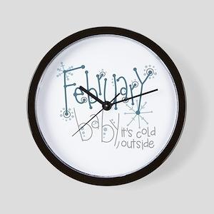 February Baby Wall Clock