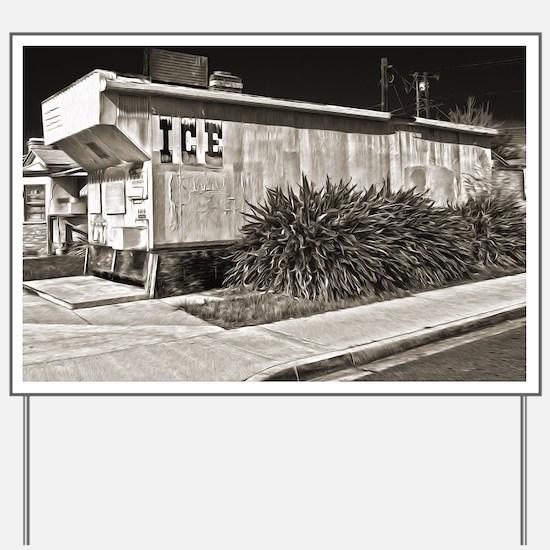 Cute Ice house Yard Sign