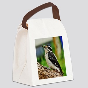 Hairy Woodpecker Canvas Lunch Bag