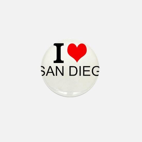 I Love San Diego Mini Button