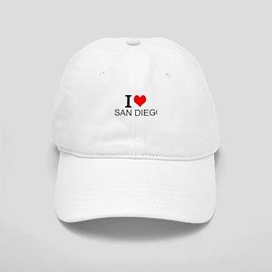 I Love San Diego Baseball Cap