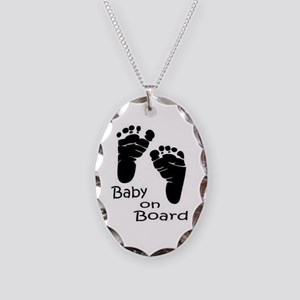 baby on board Necklace Oval Charm