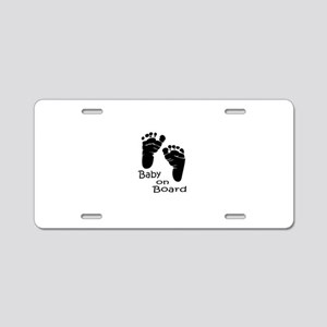 baby on board Aluminum License Plate