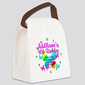 BLESSED 90TH Canvas Lunch Bag