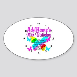 BLESSED 90TH Sticker (Oval)