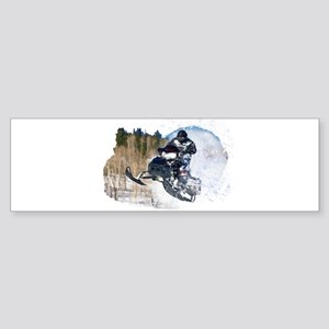 Airborne Snowmobile Bumper Sticker