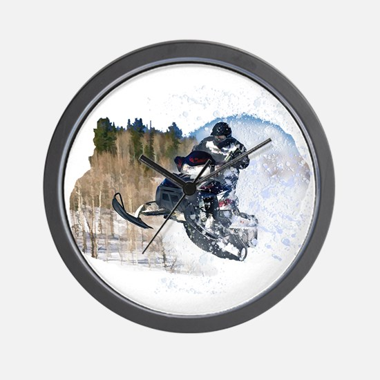 Airborne Snowmobile Wall Clock