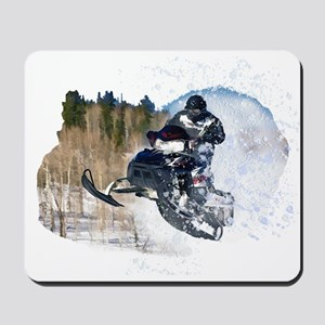 Airborne Snowmobile Mousepad