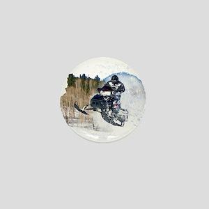 Airborne Snowmobile Mini Button