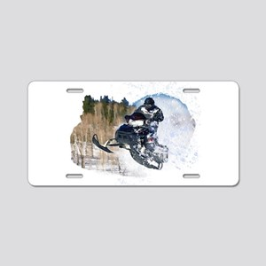 Airborne Snowmobile Aluminum License Plate