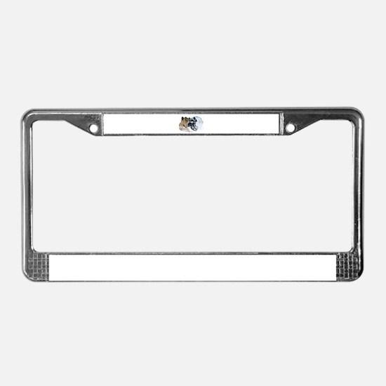 Airborne Snowmobile License Plate Frame