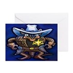 Sheriff Dillo Card Greeting Cards