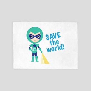 Save The World! 5'x7'Area Rug