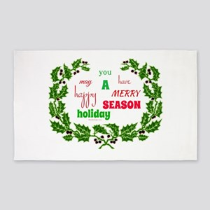 Holiday Message 3'x5' Area Rug
