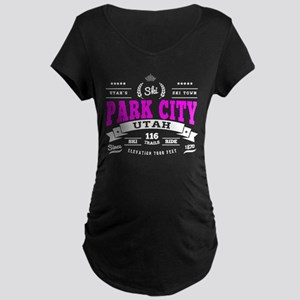 Park City Vintage Maternity Dark T-Shirt