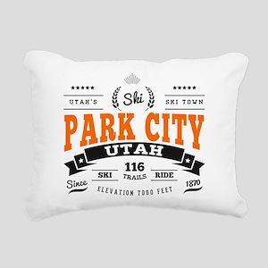 Park City Vintage Rectangular Canvas Pillow