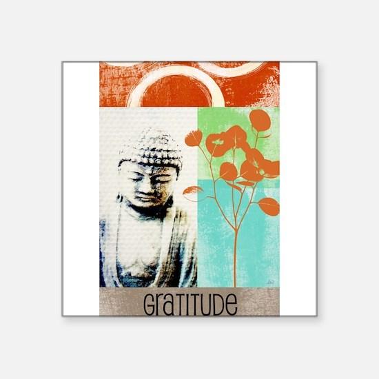 """Cute Blue yoga Square Sticker 3"""" x 3"""""""