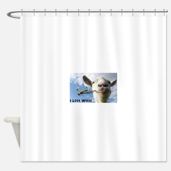 Weed Goat Shower Curtain