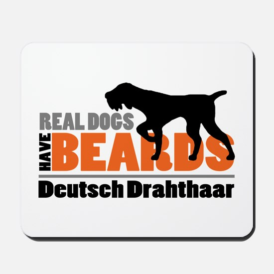 Real Dogs Have Beards - DD Mousepad