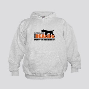 Real Dogs Have Beards - DD Kids Hoodie